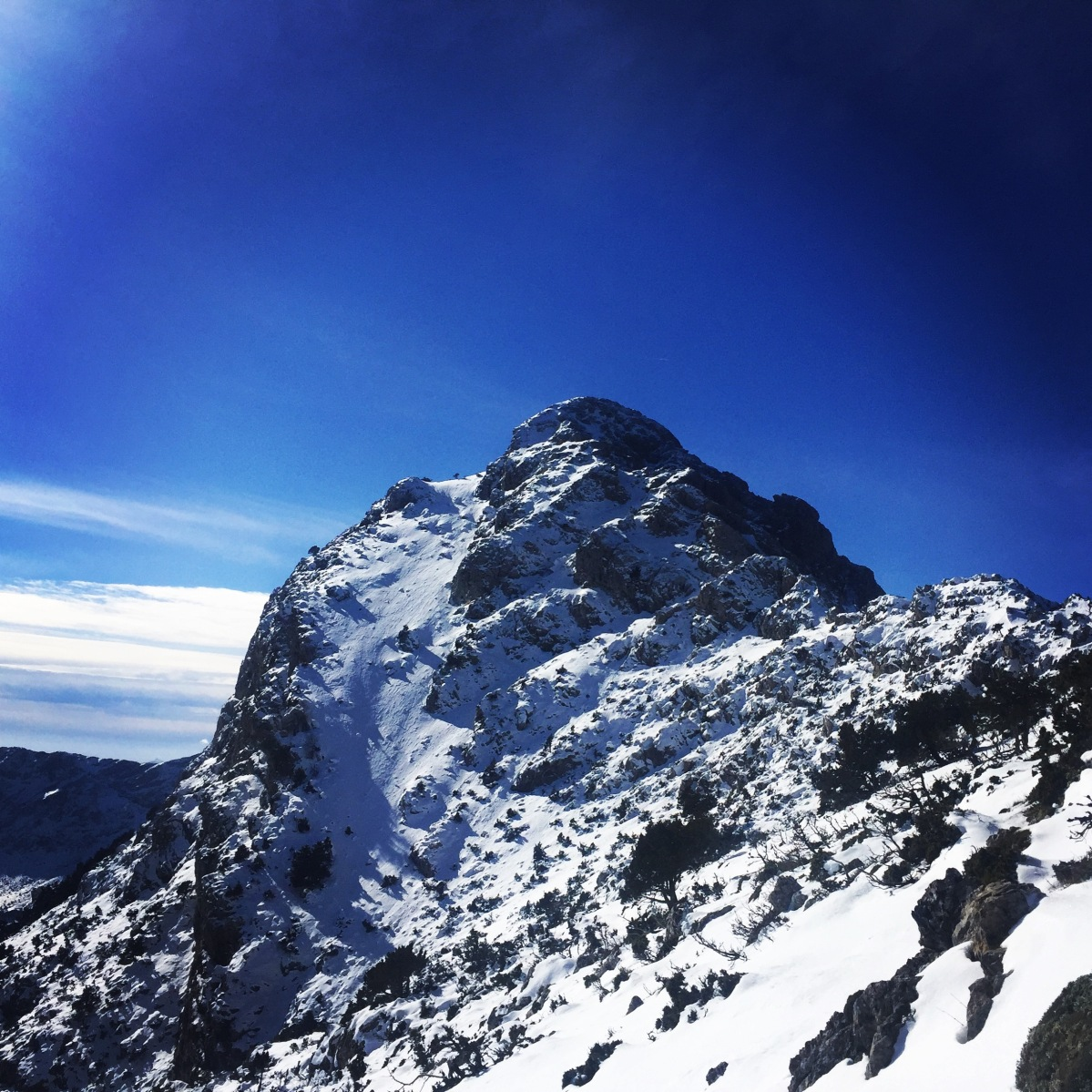 Winter Ascent on Artemisio Mountain