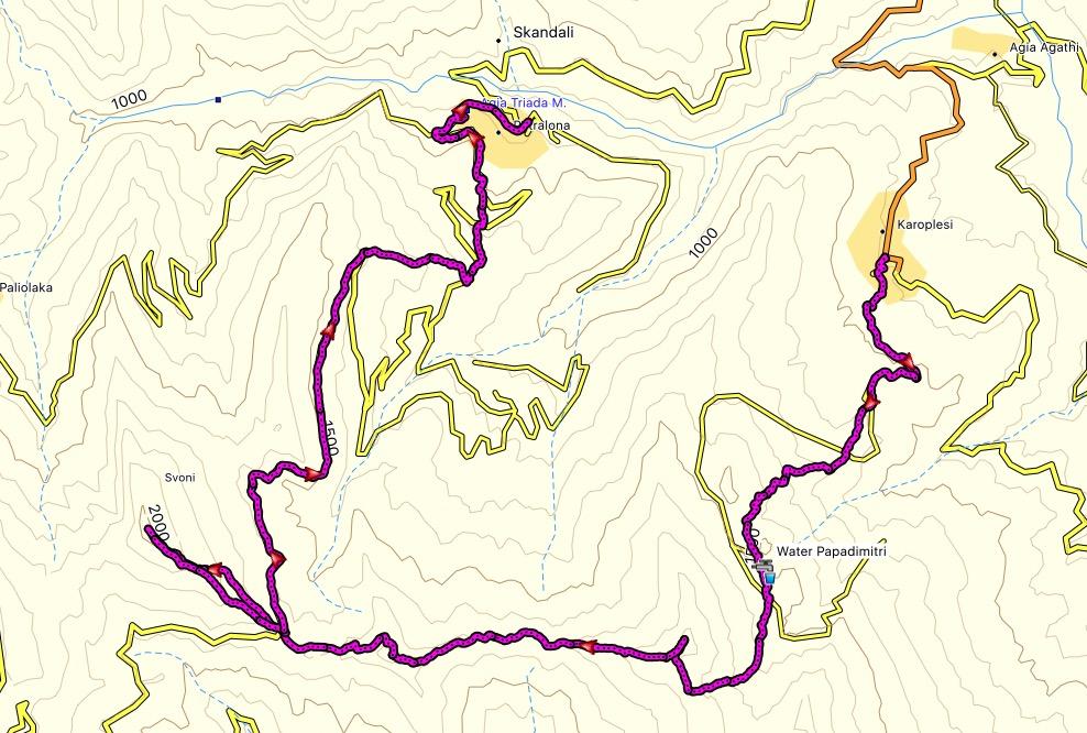 Agrafa_Svoni_Pouli_Papadimitri_Hiking_Map