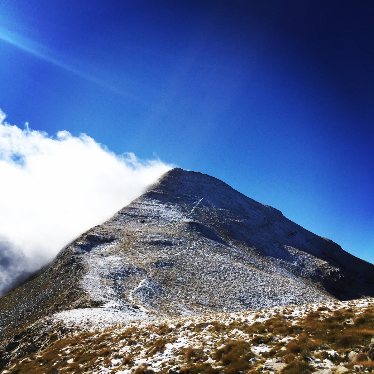 Taygetus Mountain Autumn Ascent via Athanati Rachi