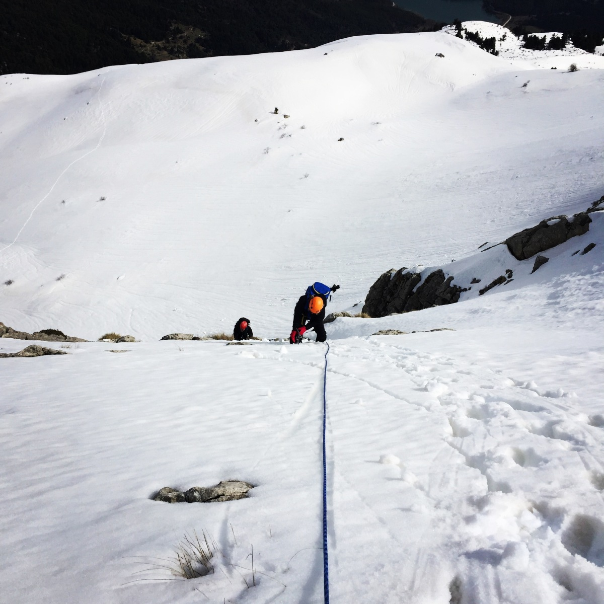 Winter Mountaineering climb on Nisi Peak (Arête of Chelmos/Aroania)