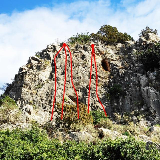 Climbing_Franchthi_Caves_Ermionida_Argolis_routes