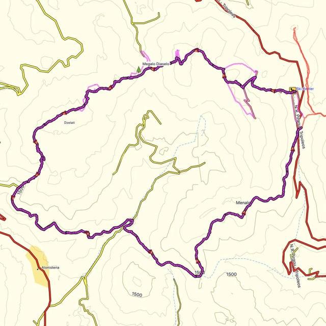 Mainalo_Menalo_Mountain_Refuge_Tzelati_Map