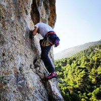 Climbing in Korakofolia, Parnitha - Athens, Greece