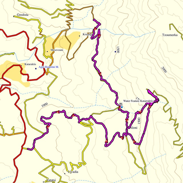 Hiking_in_Tzoumerka_Athamanika_Waterafalls_Map